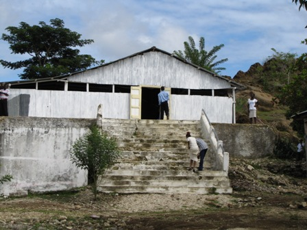 Photo: Exterior of St Anthony of Padua in Fond Oies, Haiti