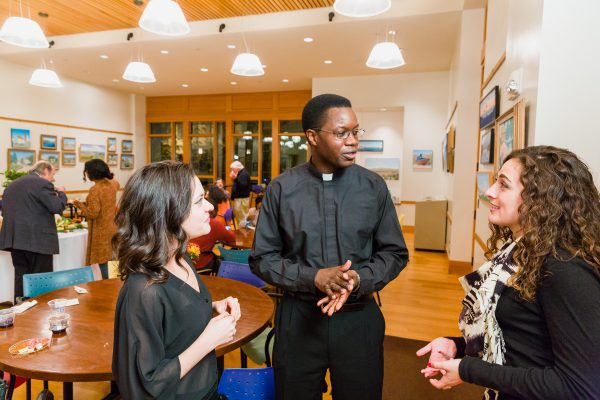 Fr. Davis doing campus ministry at Yale