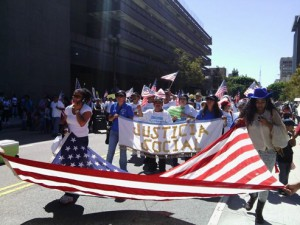 Social justice group marches for immigration reform in LA
