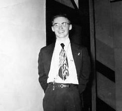 Fr. Jim at age 16, notice his cross tucked in his belt