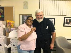 Grace Cruz and Fr. Dan Nassaney, OMI