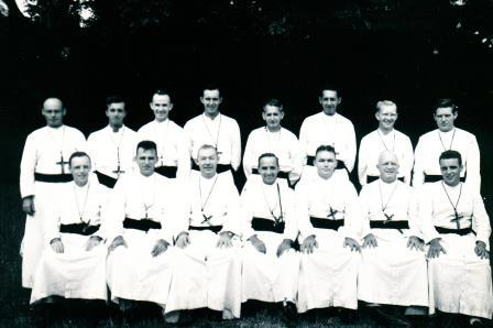 Oblate Missionaries in The Philippines around 1940 Future Bishops McSorley and Mongeau are seated 3rd and 4th from left, respectively